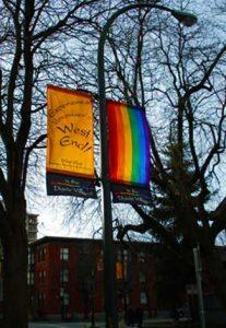 Davie Street Rainbow Banner