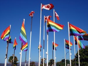 Vancouver Pride Flags